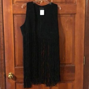 Free People x Understated Leather Fringe Vest